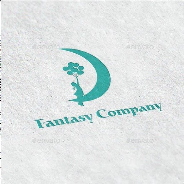 Balloon Girl Logo Template