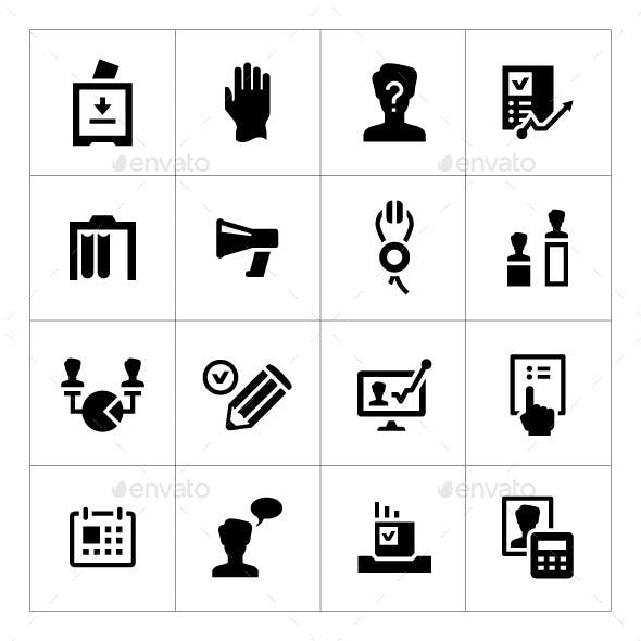 Set Icons of Elections