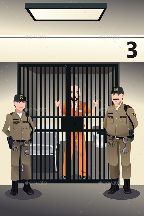 Prisoner in the Jail - People Characters