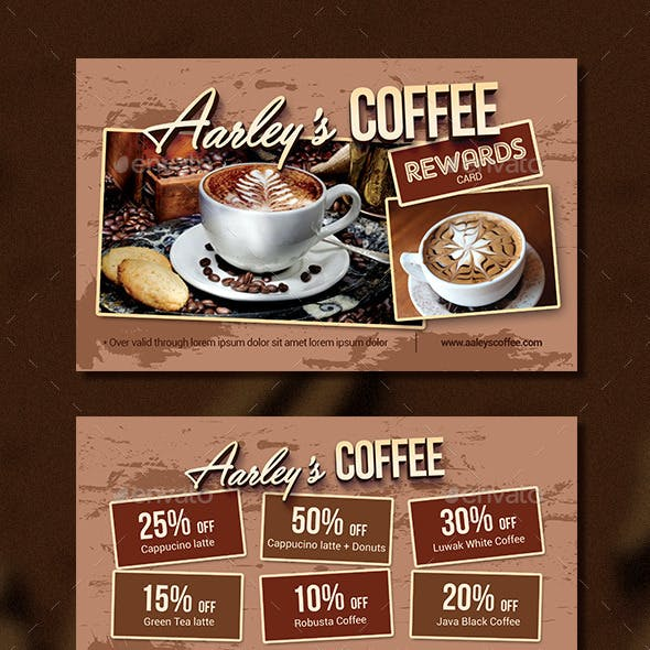Coffee Shop Rewards Card
