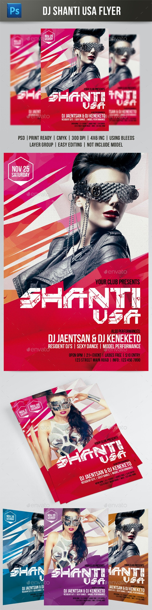 Shanti USA Flyer - Events Flyers
