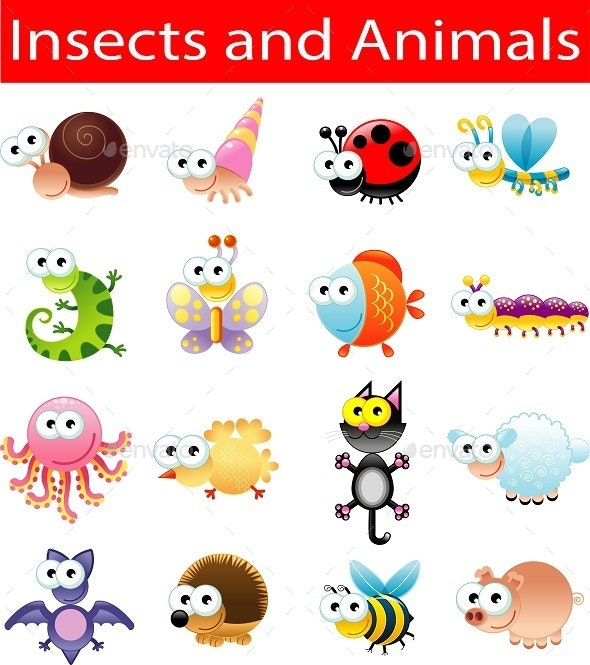 Insects and Animals - Animals Characters