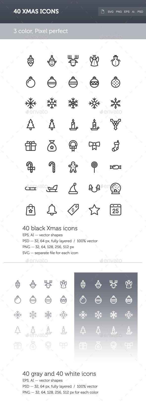 Xmas Icon Set - Seasonal Icons