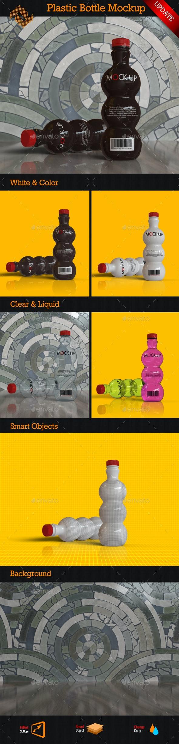 Plastic Bottle Mockup - Food and Drink Packaging