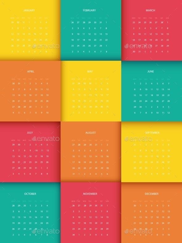Calendar for 2015 - New Year Seasons/Holidays