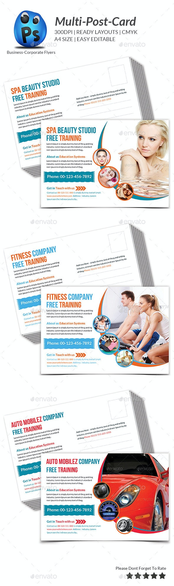 Multipurpose Business Postcard Template - Cards & Invites Print Templates