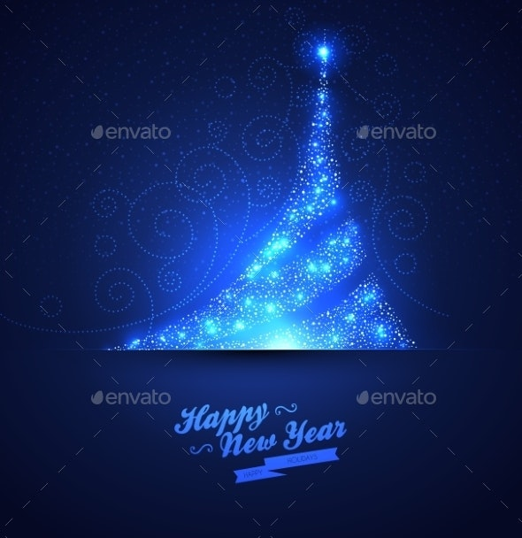 Xmas tree glowing background - Christmas Seasons/Holidays