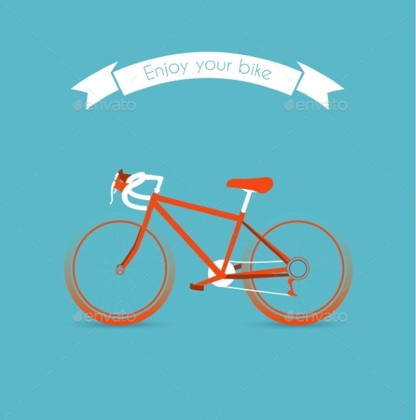 Engoy your bicycle image - Objects Vectors