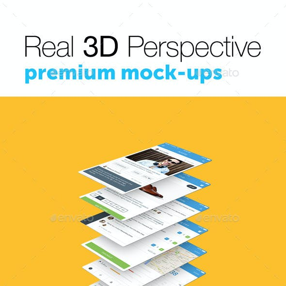 4 Real 3D Perspective Mock-Ups Phone 6 Edition (III)