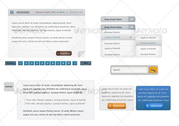 Web 2.0 Set 2 - Miscellaneous Web Elements