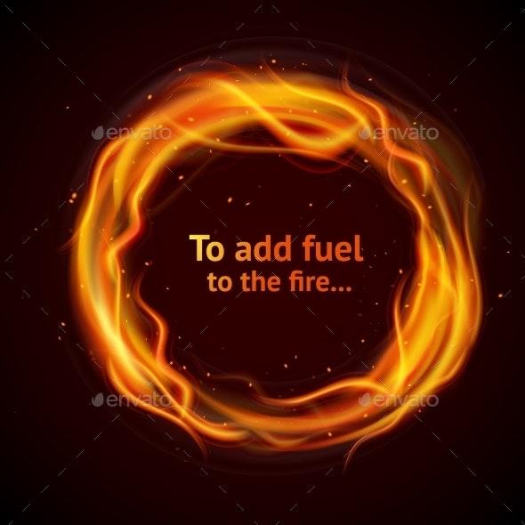 Flame Circle Background - Miscellaneous Vectors