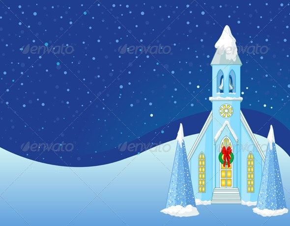 Winter Christmas scene  background - Christmas Seasons/Holidays