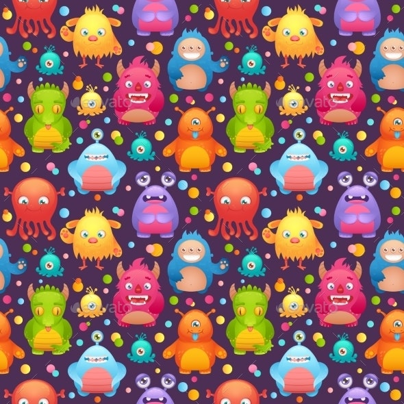 Monsters Set - Backgrounds Decorative
