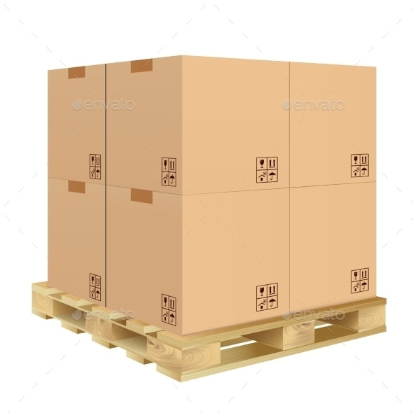 Carton Box Isolated - Retail Commercial / Shopping