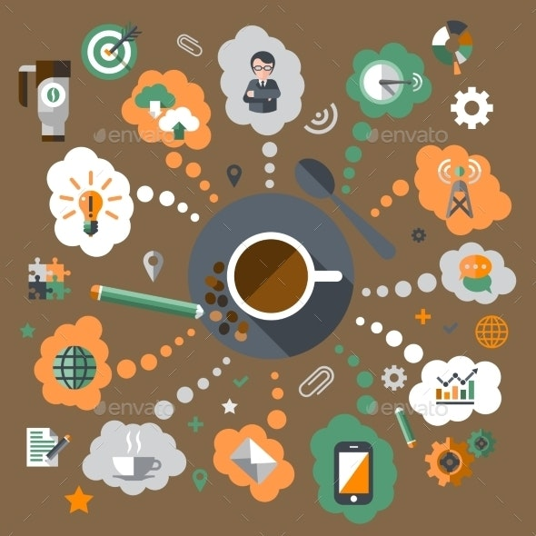 Coffee Creative Concept - Concepts Business