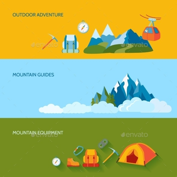 Camping Banner Set - Travel Conceptual
