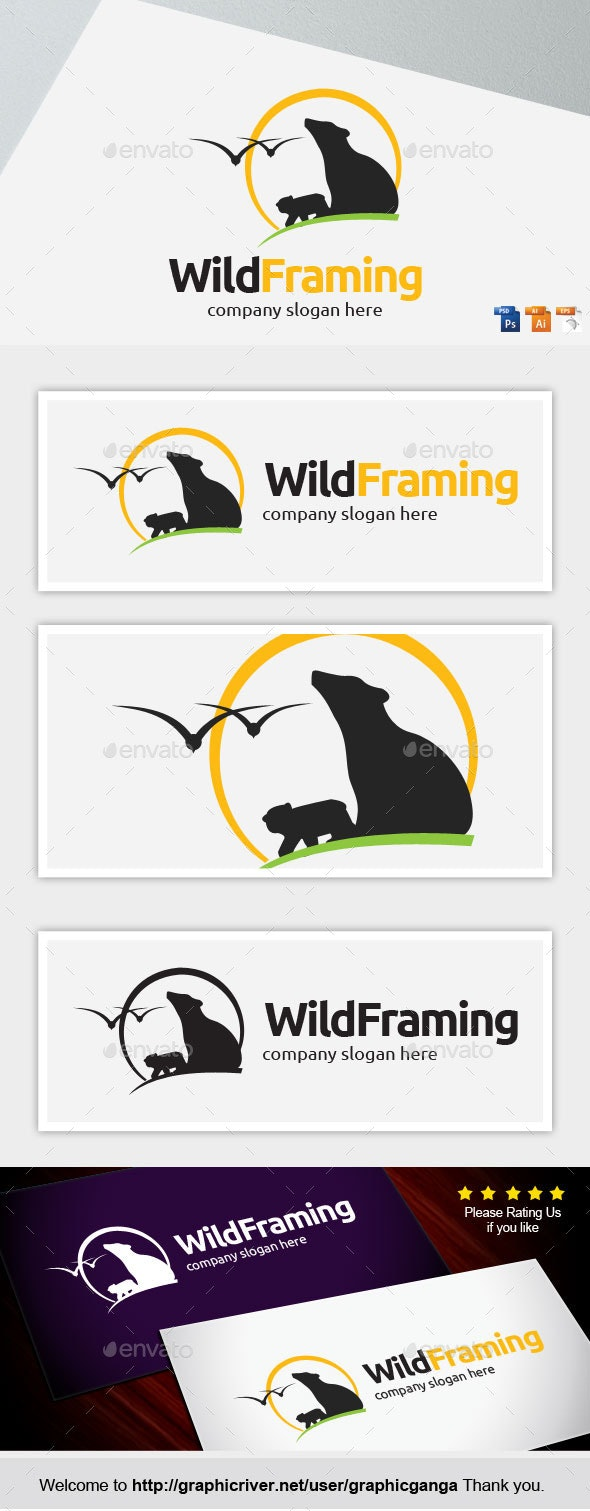 Wild Framing - Nature Logo Templates
