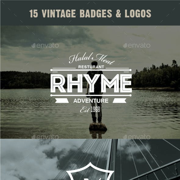 15 Vintage Badges and Logos