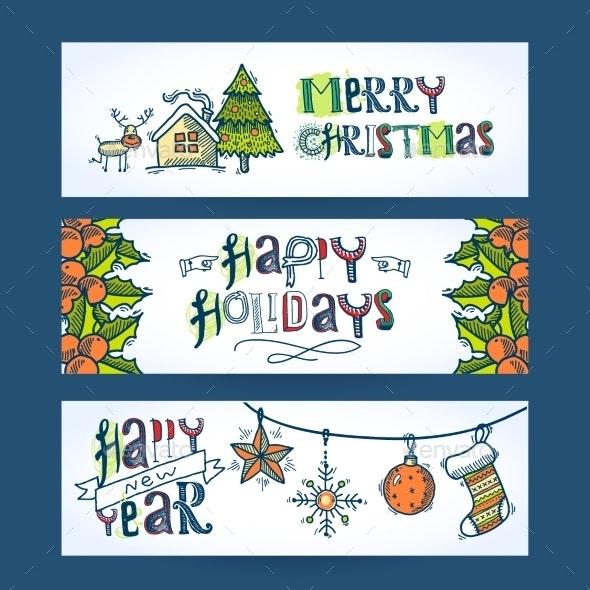 Christmas Horizontal Banners - Christmas Seasons/Holidays