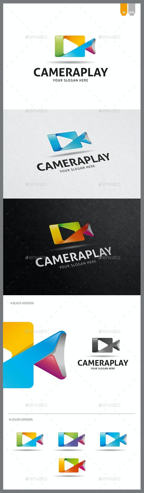 Camera Play Logo - Objects Logo Templates