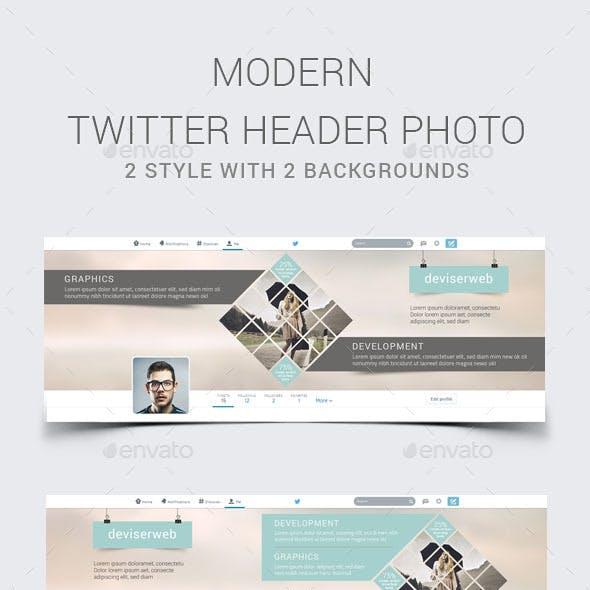 Modern Twitter Header