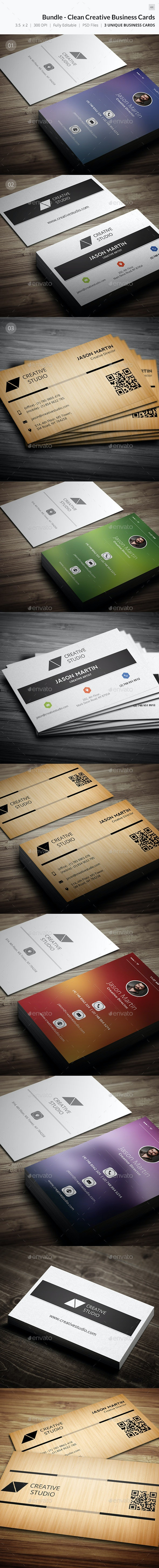 Bundle - Creative Clean Business Card - 44 - Creative Business Cards