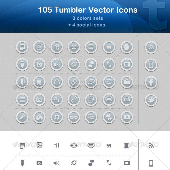 105 Tumbler Vector Icons