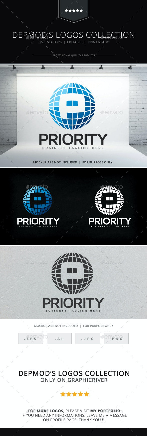 Priority Logo - Letters Logo Templates