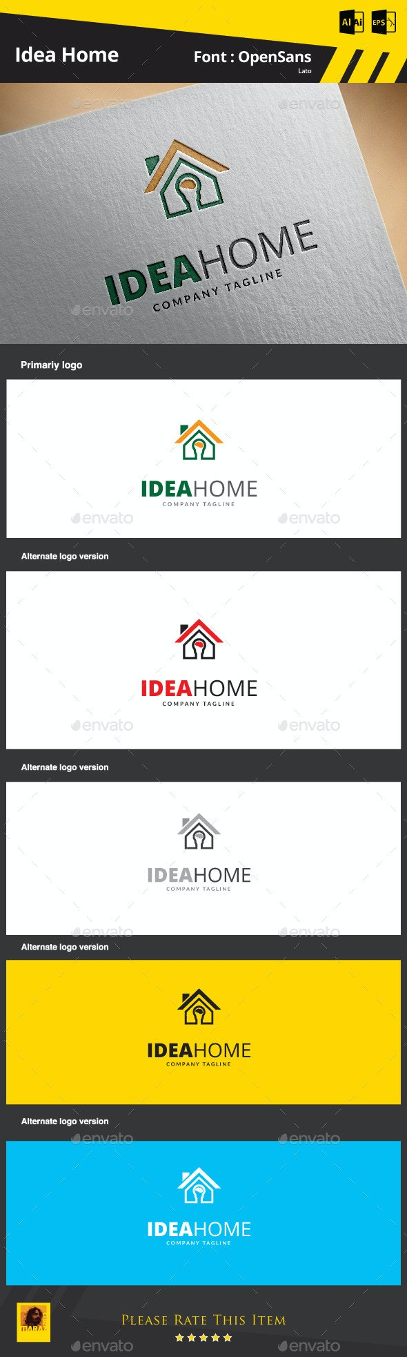 Idea Home Logo Template - Buildings Logo Templates