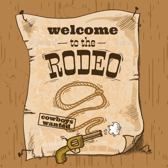 Rodeo Retro Poster - Miscellaneous Vectors
