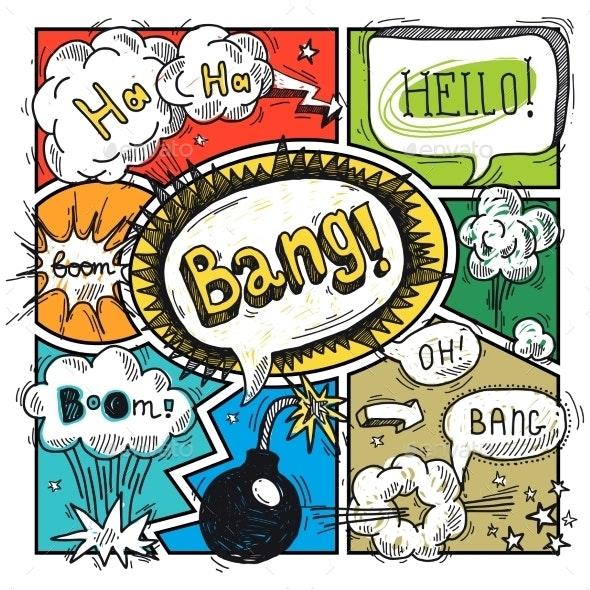 Comic Speech Bubbles - Miscellaneous Vectors