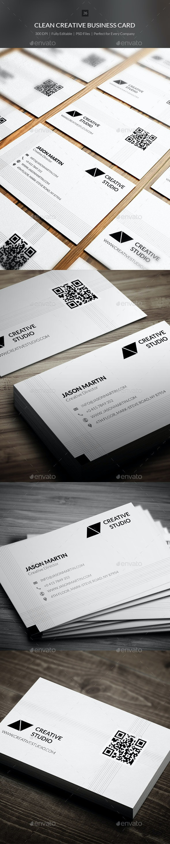 Clean Creative Business Card - 26 - Creative Business Cards