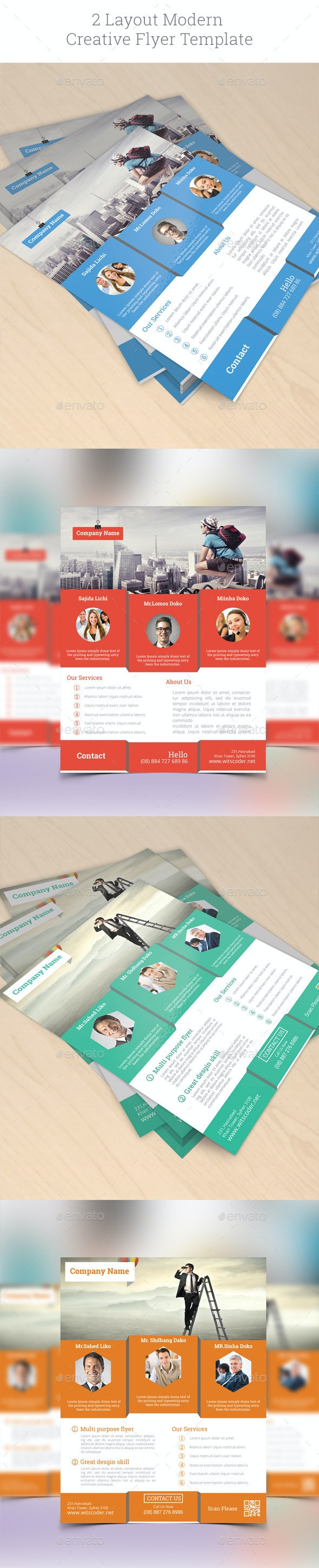 2 Layout Modern & Creative Flyer Template - Corporate Flyers