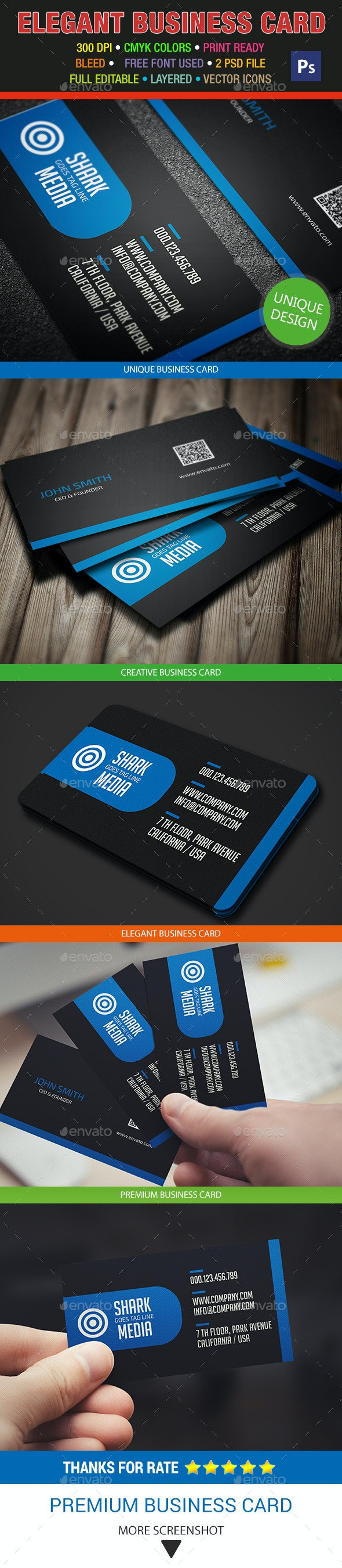 Elegant Business Card 329 - Corporate Business Cards