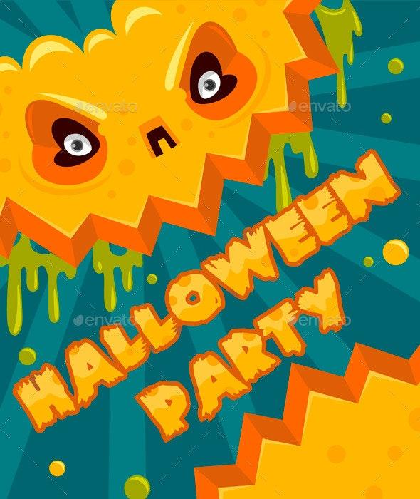 Halloween Party Pumpkin Banner - Halloween Seasons/Holidays