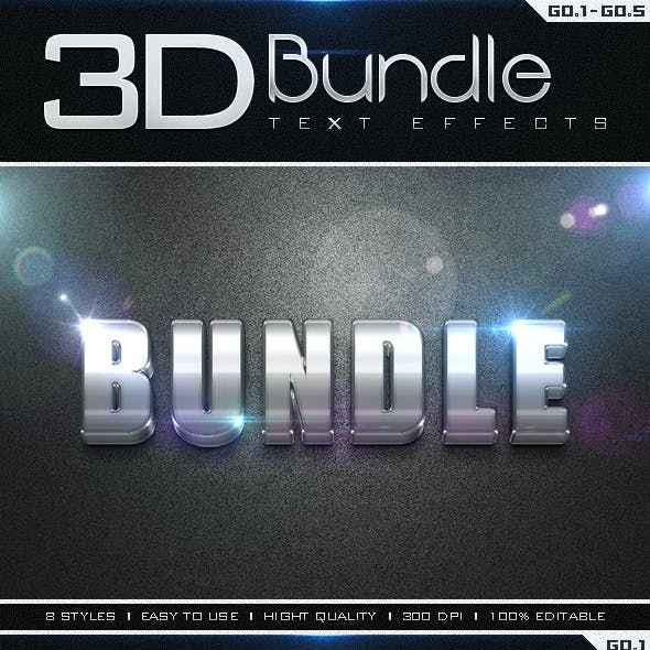 3D Collection Text Effects Bundle