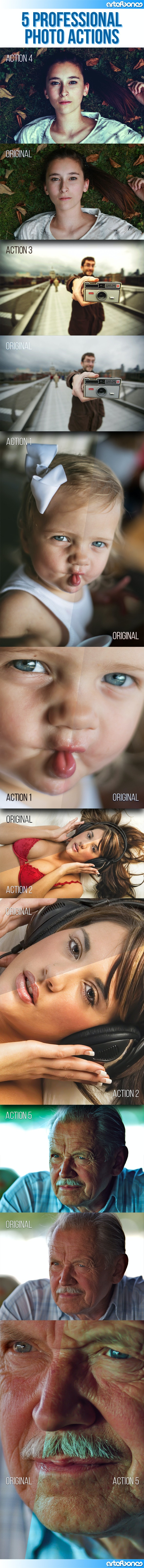 5 Professional Actions Vol.1 - Photo Effects Actions