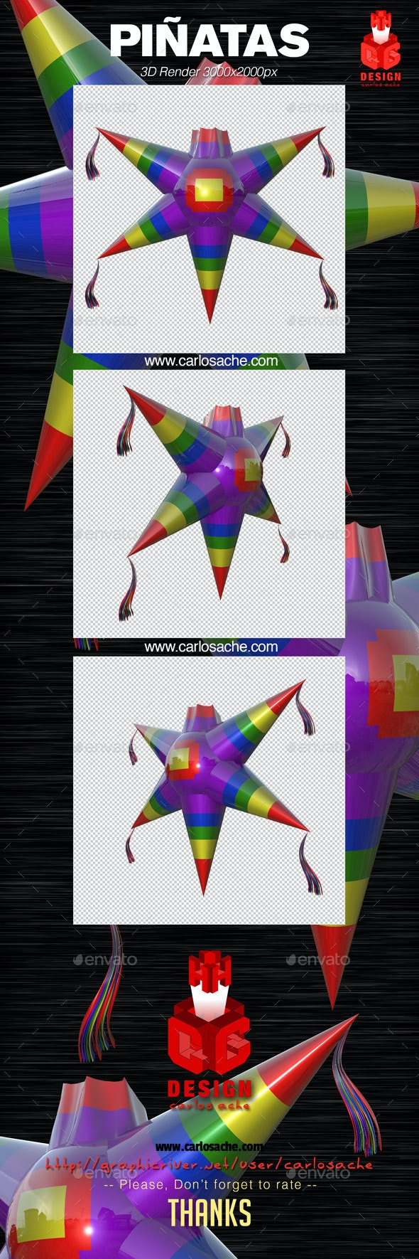 Piñata - 3D Render - Objects 3D Renders