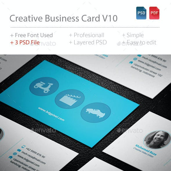 Creative Business Card V10