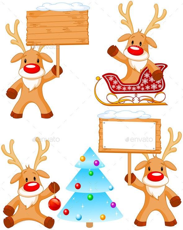 Reindeer Rudolph - Christmas Seasons/Holidays