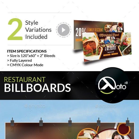 Mexican Restaurant Promotion Billboard