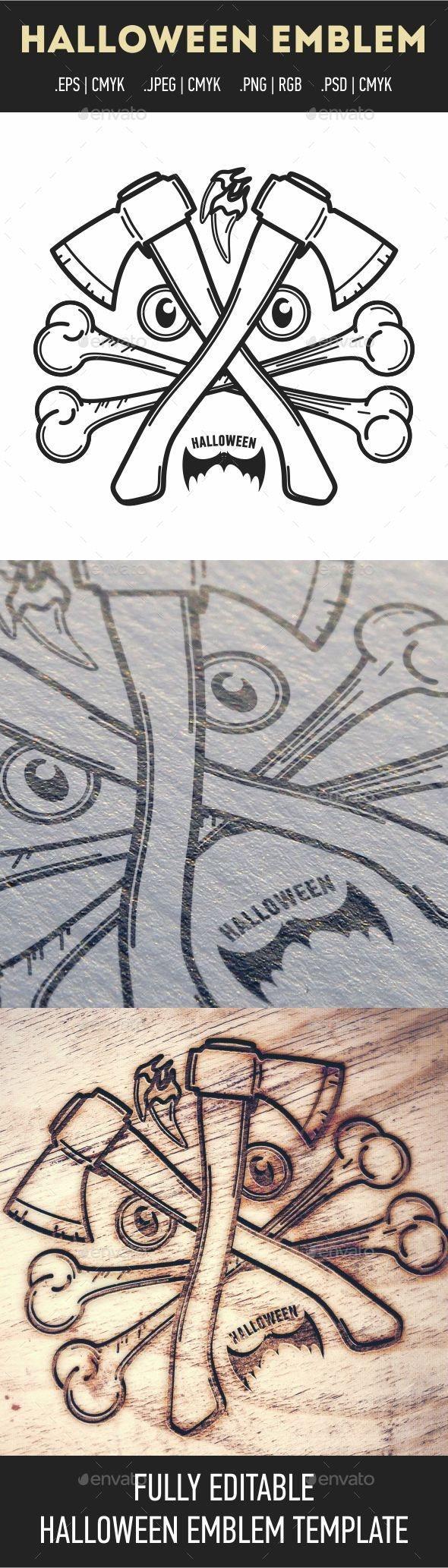 Halloween Emblem - Decorative Symbols Decorative