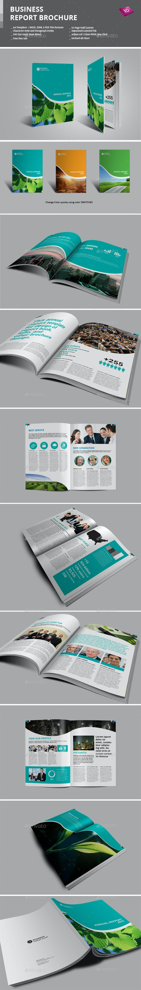 Business Report Brochure - Informational Brochures