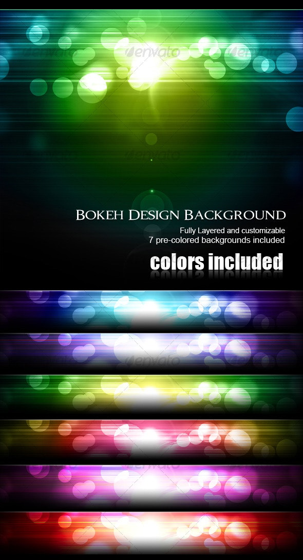 Bokeh Design Background - Abstract Backgrounds