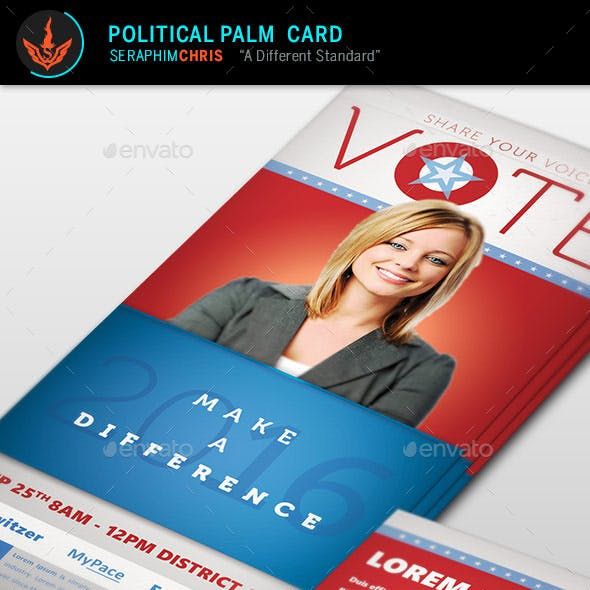 Vote Political Palm Card Template