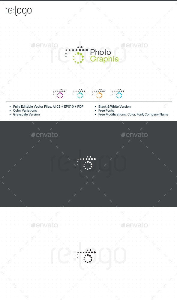 PhotoGraphia Logo Design - Abstract Logo Templates
