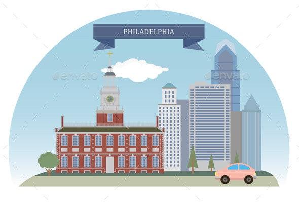 Philadelphia, USA - Buildings Objects