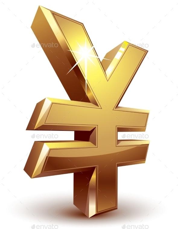 Yen Symbol - Business Conceptual
