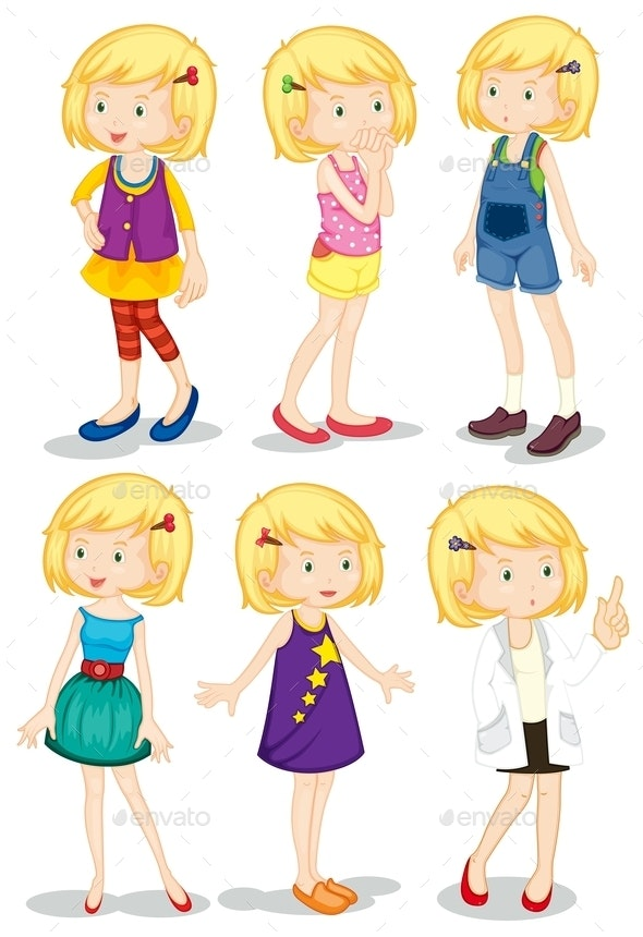 Young Blonde Girls - People Characters