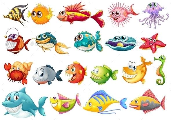 Fish Set - Animals Characters